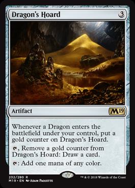 butin du dragon dragons hoard carte magic the
