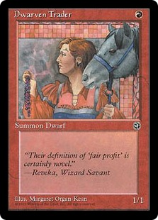 Marchande naine - Dwarven Trader - Magic: The Gathering card