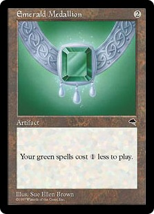 English, Commander Anthology, Free P/&P MTG Emerald Medallion