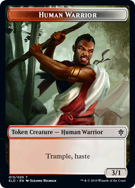 Human Warrior (3/1, red and white)