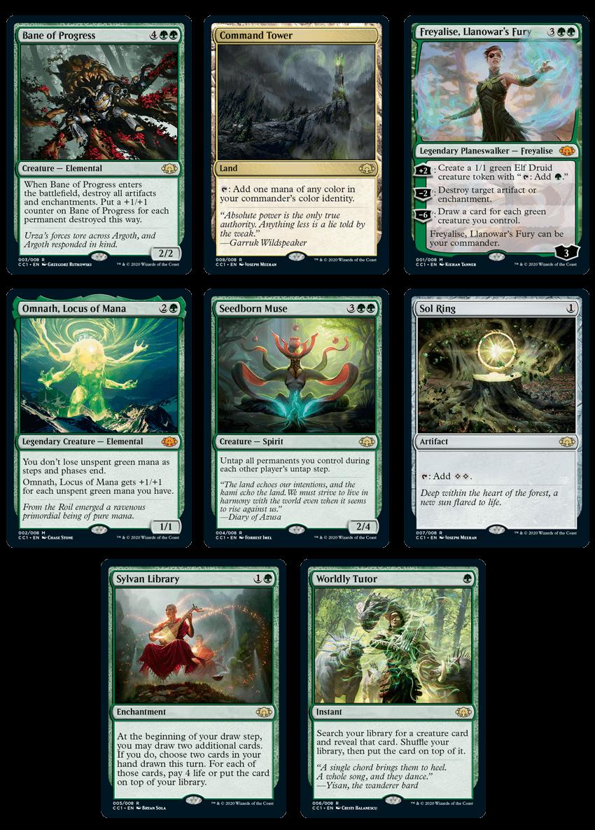 Cartes Commander Collection : Green