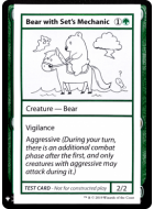 Bear with Set's Mechanic