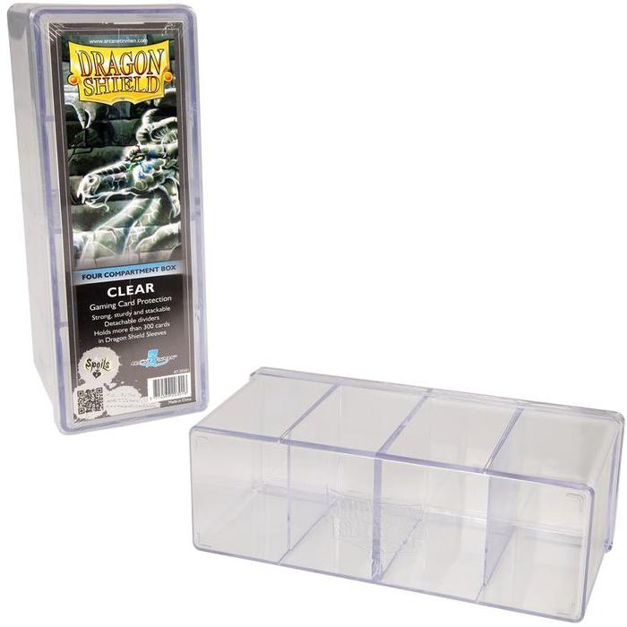 deck box rigide 4 compartiments transparent magic bazar. Black Bedroom Furniture Sets. Home Design Ideas