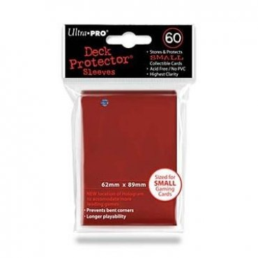 60 Japanese Size Ultra Pro Sleeves - Red