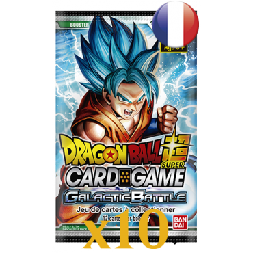 10 boosters Dragon Ball Série 1 Galactic Battle VF
