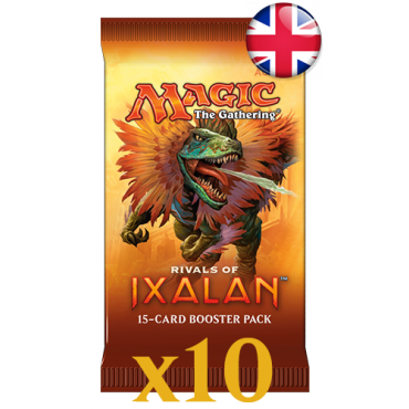 10 boosters Rivals of Ixalan VO