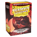 100 pochettes Dragon Shield Crimson