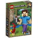Boite de Bigfigurine Minecraft™ Steve et son perroquet LEGO® 21148