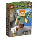 Boite de Bigfigurine Minecraft™ Alex et son poulet LEGO® 21149