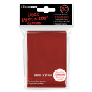 50 pochettes Ultra Pro - Rouge (Lava Red)