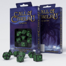 Set de 7 dés Call Of Cthulhu Noirs & Verts - QWorkshop