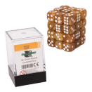 Blackfire Dice Cube 12mm D6 36 Dice Set - Marbled Gold