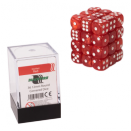 Blackfire Dice Cube 12mm D6 36 Dice Set - Marbled Red