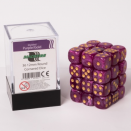 Blackfire Dice Cube 12mm D6 36 Dice Set - Marbled Purple and gold