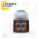 Pot de peinture Base Abaddon Black 12ml 21-25 - Citadel