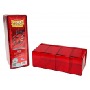 Deck box rigide 4 compartiments Rouge