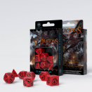 Set de 7 dés Dragons Rouges & Noirs - QWorkshop
