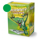 100 Pochettes Apple Green Matte - Dragon Shield