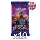 10 Throne of Eldraine Booster Packs EN