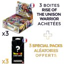 Lot de 3 boites Rise of the Unison Warrior - Dragon Ball FR