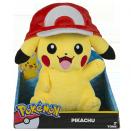 Peluche Pokémon Pikachu avec casquette pas cher