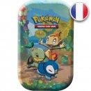 Boite de Mini Tin Célébrations - Tortipouss, Ouisticram et Tiplouf - Pokémon FR