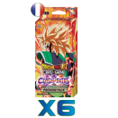 Lot de 6 Premium Packs Dragon Ball TB3 Clash of Fates VF