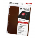 10 pages de classeur 18-Pocket Side-Loading - Marron