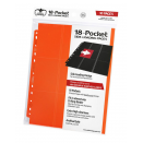 10 pages de classeur 18-Pocket Side-Loading - Orange