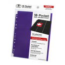 10 pages de classeur 18-Pocket Side-Loading - Violet