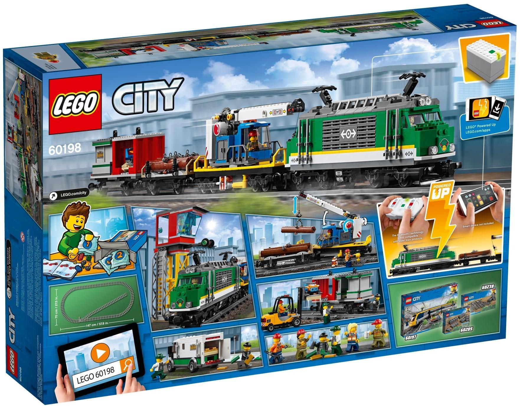 le train de marchandises t l command lego city 60198. Black Bedroom Furniture Sets. Home Design Ideas
